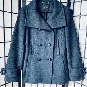 Aritzia Talula Babaton wool cashmere Peacoat Sz M